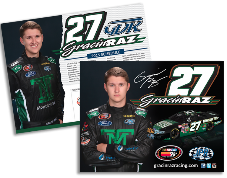 Hero Cards Gracing Raz Racing