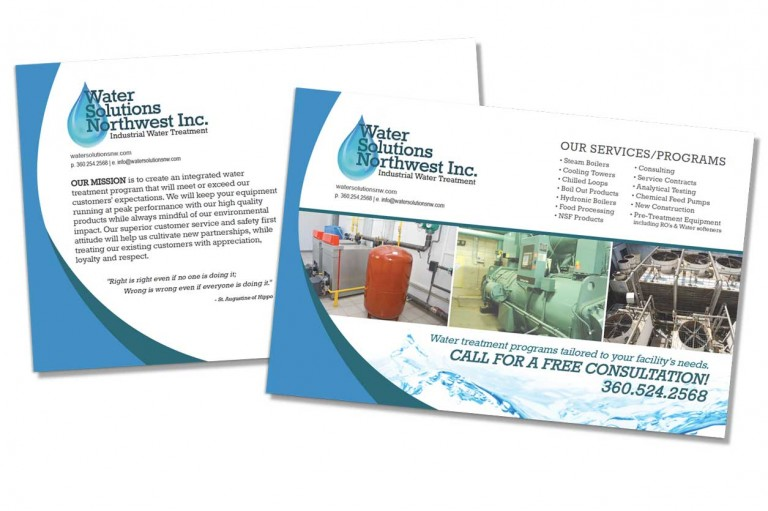 Water Solutions Northwest - Postcard Design